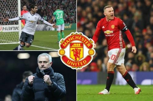 Manchester United news and transfer rumours LIVE Wayne Rooney updates and Henrikh Mkhitaryan injury latest