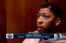 Anthony Davis on moving on from loss to Rockets