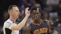 Hawks suspend Schroder for a game for late return to team