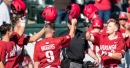 Arkansas plates 10 in one inning, beats Bryant in series opener