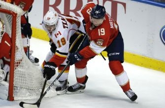 Johnson leads Flames past Panthers 4-2 for 3rd straight