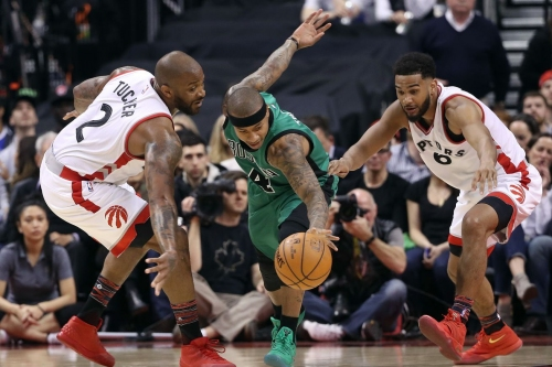 Celtics blow 17-point lead and lose to revamped Raptors