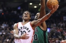 DeRozan drops 43 as Raptors down Celtics, 107-97