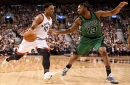 Toronto Raptors lose Kyle Lowry but get 43 points from DeMar DeRozan in beating Boston Celtics 107-97