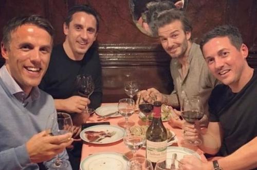 Phil Neville celebrates 40th birthday in style - with David Beckham in Paris