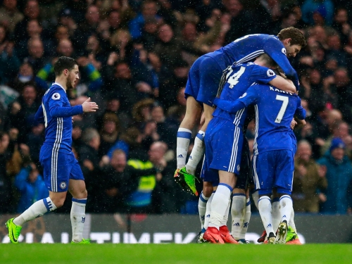 Pedro and Diego Costa settle Chelsea's nerves against Paul Clement's plucky Swansea