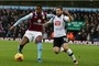 Villa midfielder shown red card for 'pushing' linesman