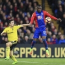Middlesbrough's Stewart Downing, left, and Crystal Palace's Christian Benteke battle for the ball during the Premier League soccer match between Crystal Palace and Middlesbrough at Selhurst Park, London, England. Saturday, Feb. 25, 2017 (John Walt
