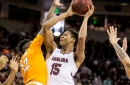 South Carolina rolls past Tennessee 82-55 to snap three-game losing streak