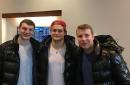 Zach Hyman, William Nylander, Leo Komarov show up with the same jacket