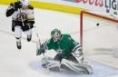 Bergeron scores 2, Bruins beat Stars 6-3 to end winning trip