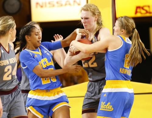 No. 15 UCLA women edge ASU on Sun Devils' Senior Day