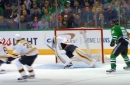 Bruins goalie Tuukka Rask made a wild, diving save to rob the Stars