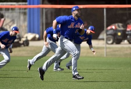 Tebow reports to Mets Spring Training