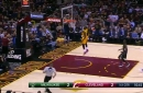 Watch: LeBron throws it down early vs. Milwaukee