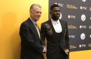 Antonio Brown's new suit: Roses, horseshoes and a gun