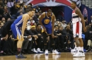 Warriors' Durant exits game with hyperextended knee