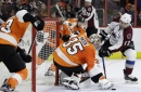 Simmonds scores 2 goals to lead Flyers past Avalanche 4-0 The Associated Press