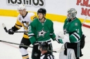 Stars rally in the 3rd to top Pens 3-2