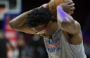 Sixers announce Joel Embiid is out for the season with left knee injury