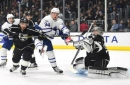 Anze Kopitar snaps out of scoring doldrums as Los Angeles Kings register come-from-behind 3-2 victory over Toronto Maple Leafs in shootout