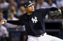 Dellin Betances sticks to innings warning after fight with Yankees