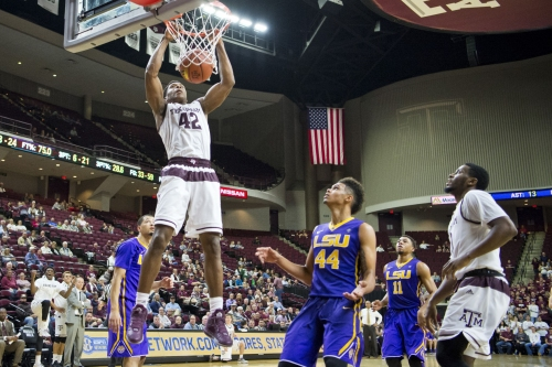 Aggie men's basketball team to host No. 9 Wildcats on Senior Day