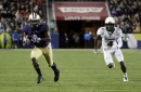 Washington's Ross blazes unofficlal 4.22 40-yard dash, which would break Chris Johnson's Combine record