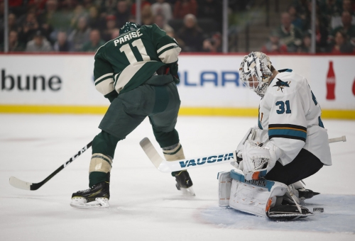 Parise, Staal lead Wild to 3-1 win over Sharks The Associated Press
