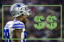 Where does Dez Bryant rank among the top salaries for WRs in 2017?