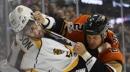Eaves gets shootout winner, Ducks rally past Predators 4-3