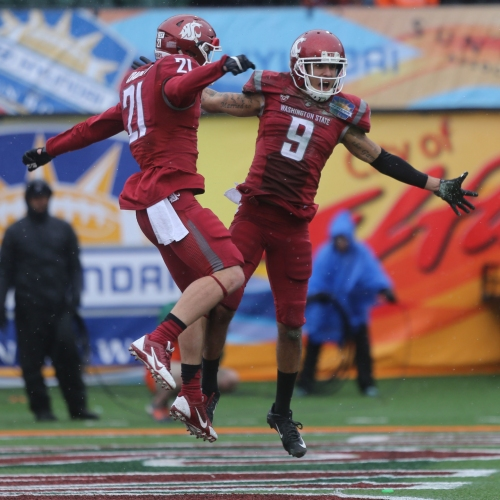 Catching up with WSU's River Cracraft, Riley Sorenson and Gabe Marks before the Cougars' Pro Day