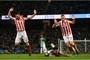 Stoke defender stung in bizarre Sergio Aguero yellow card...