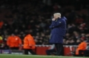 Arsenal manager Arsene Wenger gestures during the Champions League round of 16 second leg soccer match between Arsenal and Bayern Munich at the Emirates Stadimum in London, Tuesday, March 7, 2017. (AP Photo/Kirsty Wigglesworth)