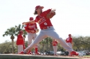 Leake putting his infielders to work as Cardinals take lead