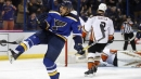 Blues get help from unlikely sources to down Ducks