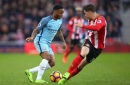 Man City manager Pep Guardiola reacts to horror tackle on Raheem Sterling