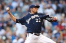 Brewers right-hander Matt Garza faces the Padres today