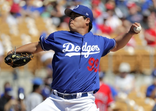 Dodgers' Ryu pitches 2 innings in spring training debut The Associated Press