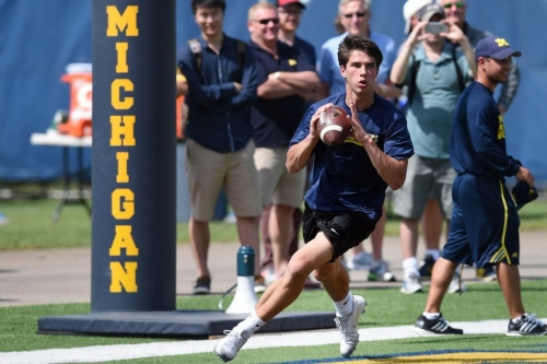 Michigan QB signee Dylan McCaffrey wins basketball state title for Valor Christian
