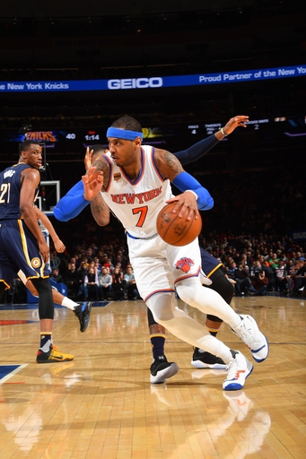 Anthony, Knicks rally from 13 down to beat Pacers 87-81 The Associated Press