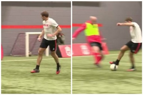 Watch Steven Gerrard back in action preparing for Liverpool Legends match with Real Madrid