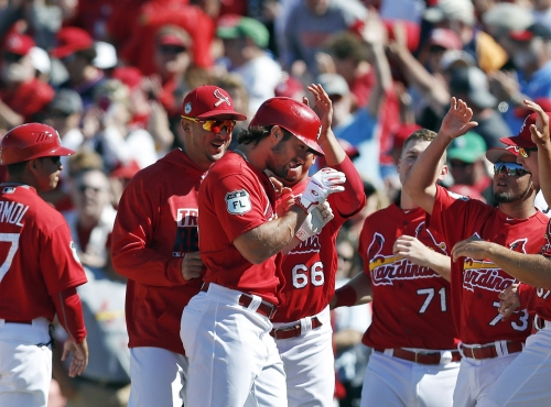 Cards win in 9th on Grichuk's hit; scoreless outing for Rosenthal