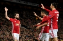 Zlatan connects with Juan Mata for back-heeled assist