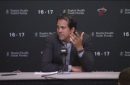 Erik Spoelstra on Dion Waiters' ankle, win over Timberwolves