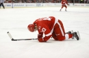 Red Wings' Darren Helm leaves game vs. Avalanche with lower-body injury