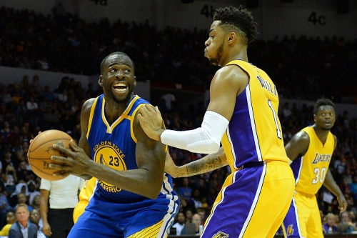 Lakers News: Draymond Green calls out D'Angelo Russell for pushing Greg Monroe