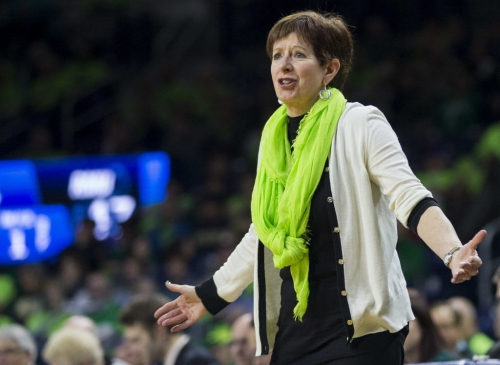 Notre Dame coach Muffet McGraw miffed over late tipoff time