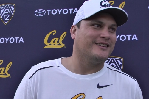 Cal quarterbacks coach Marques Tuiasosopo chats about returning to the Bay Area