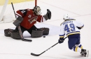 Allen, Blues shut out Coyotes The Associated Press